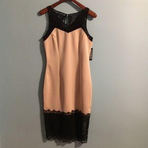 NWT NY&Co Black Lace & Nude Midi Dress -Size M & L